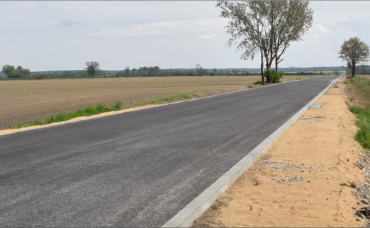 Postęp prac na drodze powiatowej Tarnowo-Karolewo