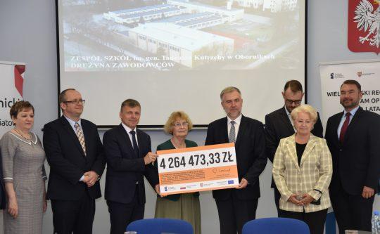 Podpisano umowę na dofinansowanie rozbudowy Zespołu Szkół w Obornikach